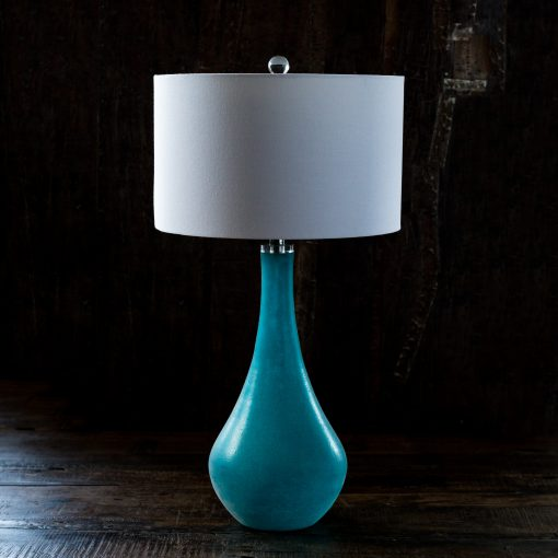 Turquoise Sea Glass Table Lamp Ormolu Design