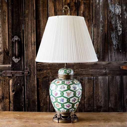 Frederick Cooper Wildwood Lamps Hand Painted Porcelain Ginger Jar Lamp
