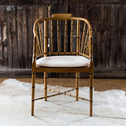 Amazing Vintage Faux Bamboo Chinese Chippendale Modern Baker Style Chair Gmtry Best Dining Table And Chair Ideas Images Gmtryco