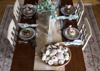 table setting 4 white