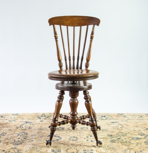 Prime Victorian Wood Swivel Piano Stool With Ball And Claw Feet And Spindle Back Ocoug Best Dining Table And Chair Ideas Images Ocougorg