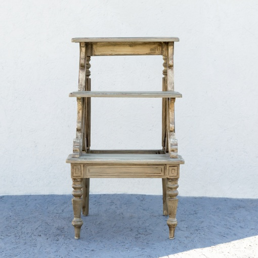 Groovy Vintage Library Step Ladder Gmtry Best Dining Table And Chair Ideas Images Gmtryco